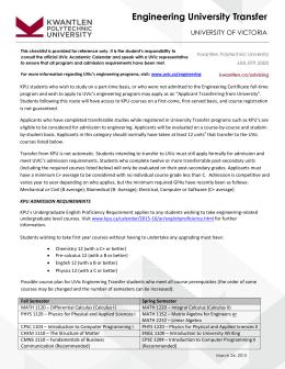 Handbook kwantlen polytechnic university engineering university transfer kwantlen polytechnic university ibookread Read Online