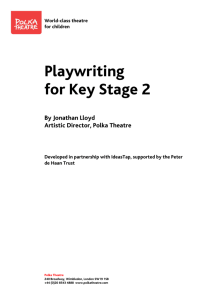 Playwriting for Key Stage 2
