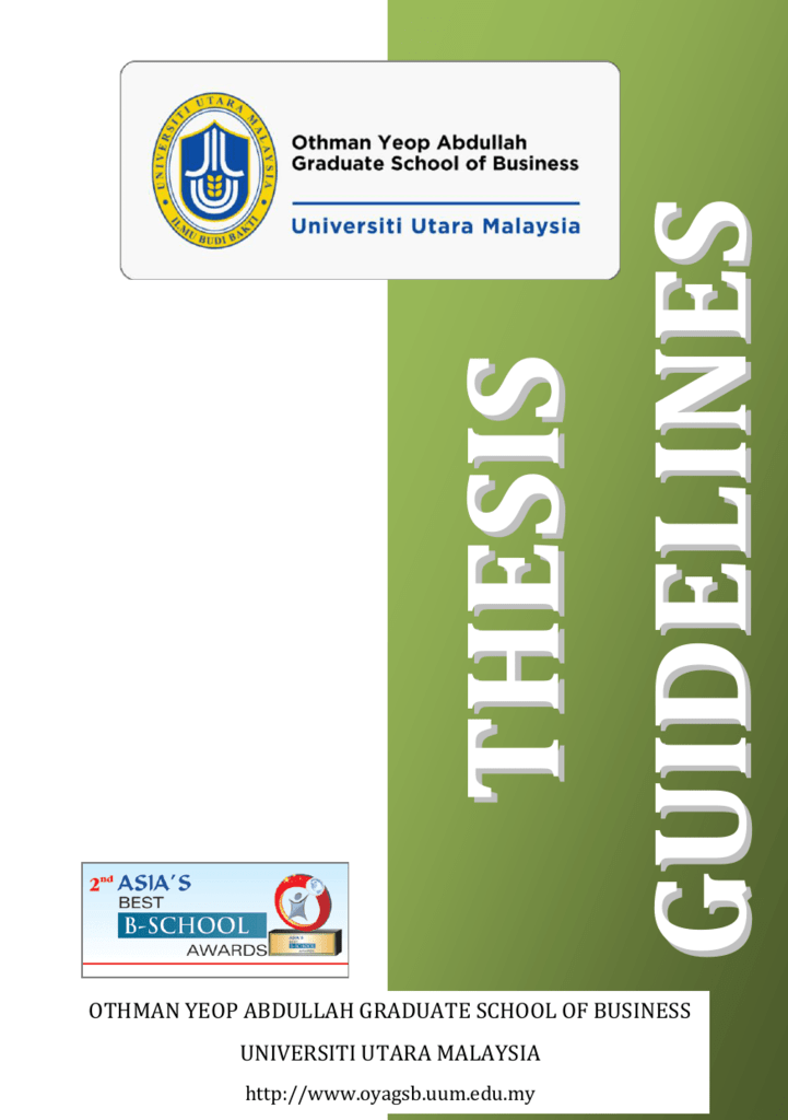 oyagsb thesis guideline