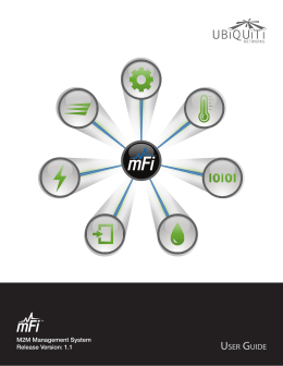 mFi | User Guide - Ubiquiti Networks
