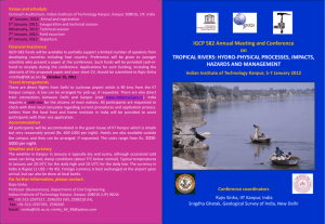 IGCP 582 Annual Meeting and Conference on TROPICAL RIVERS