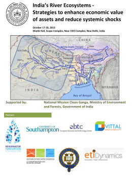 India's River Ecosystems -‐ Strategies to enhance economic