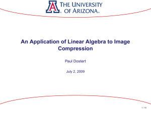 An Application of Linear Algebra to Image Compression