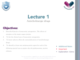 1-Anticholinergic drugs