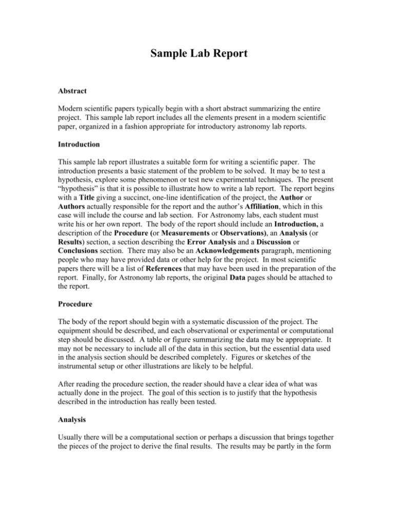Lab report analysis example tools of literary analysis