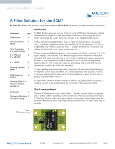 A Filter Solution for the BCM