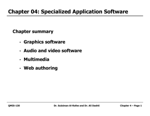 Chapter 04: Specialized Application Software