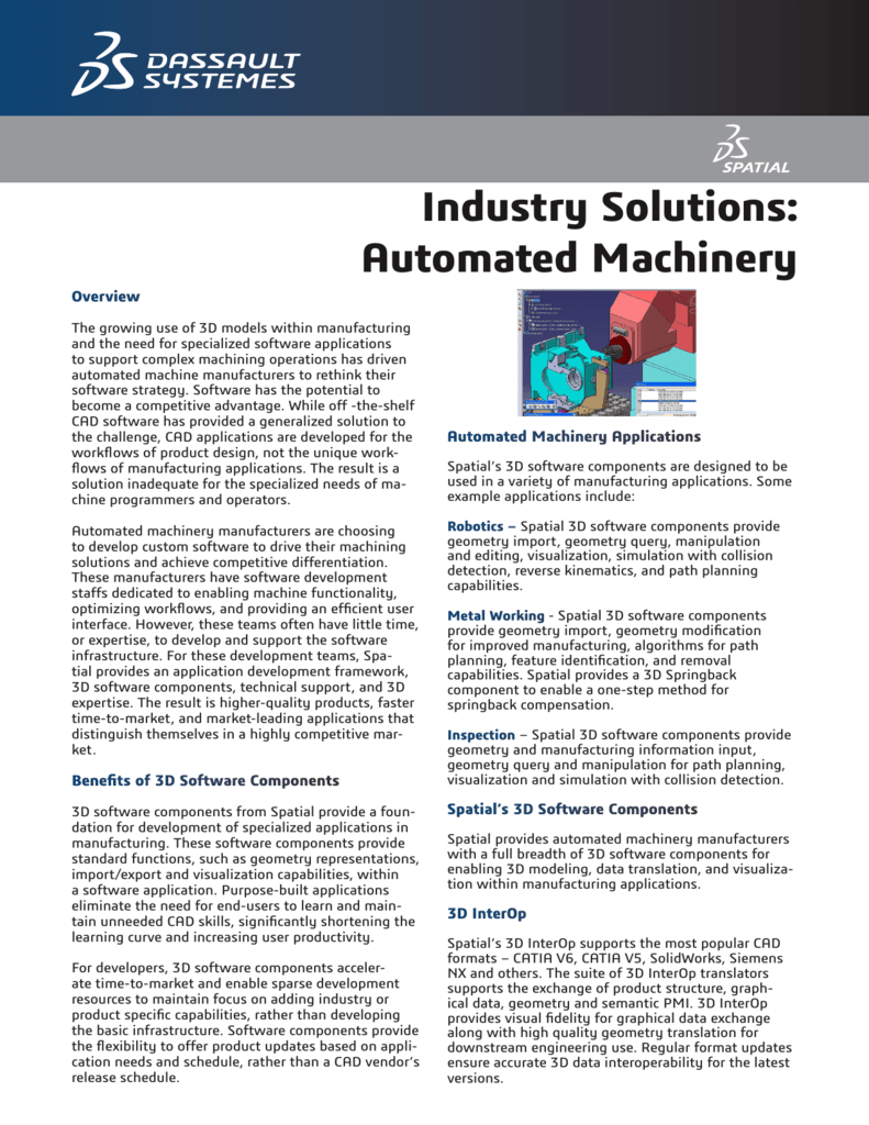 Industry Solutions: Automated Machinery