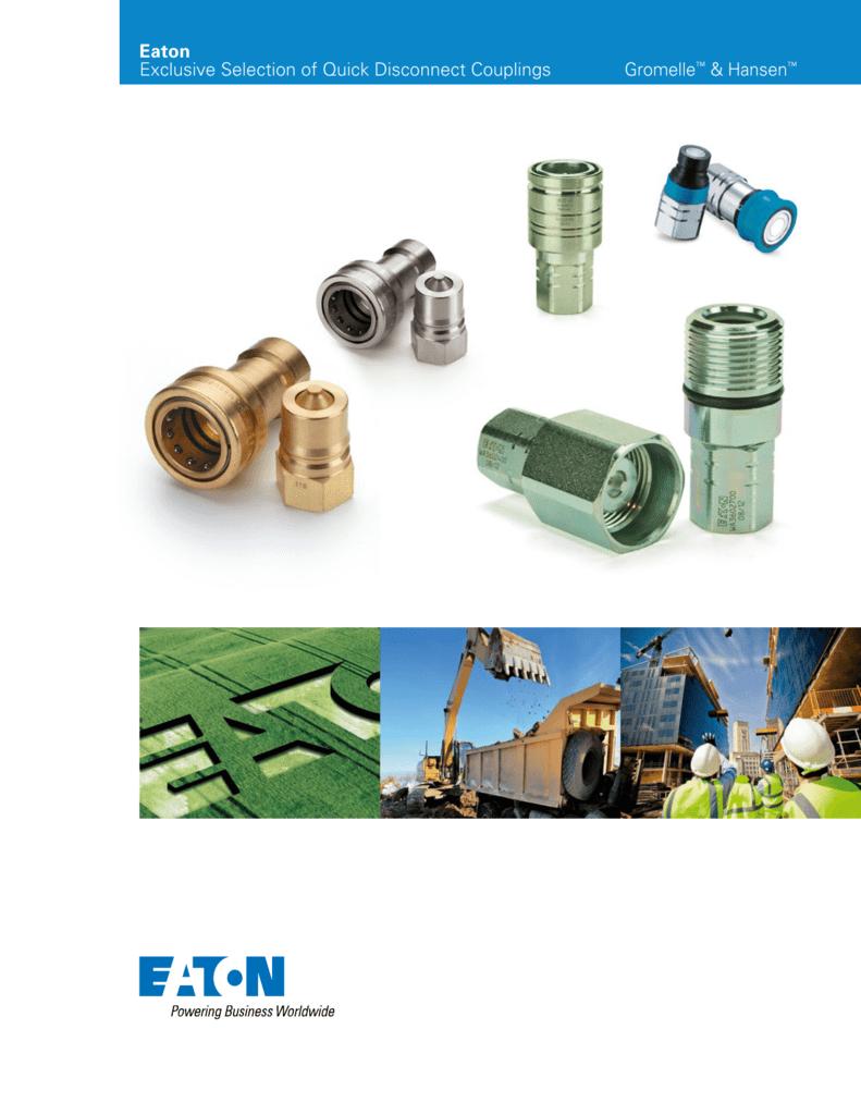 Eaton Hansen SDC6FF PVC ISO Interchange Hydraulic 1//4 Socket Dust Plug