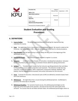 Handbook kwantlen polytechnic university student evaluation and grading procedures a definitions ibookread Read Online