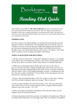 1 This reading group guide for The Time in Between