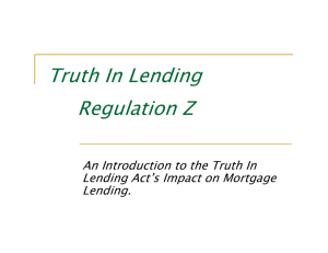 Truth In Lending Regulation Z
