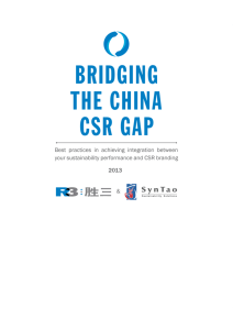 Bridging the China CSR gap – Best practices in achieving