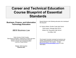 Business Law - Public Schools of North Carolina