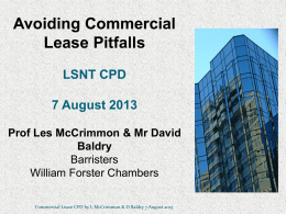 Avoiding Commercial Lease Pitfalls