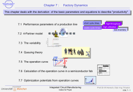 Chapter 7 : Factory Dynamics
