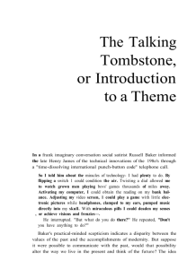 The Talking Tombstone, or Introduction to a Theme