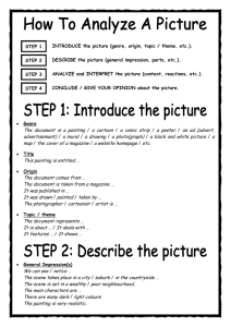 How to analyze a picture - Let's have fun with English