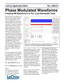 LAB 911 - Phase Modulated Waveforms