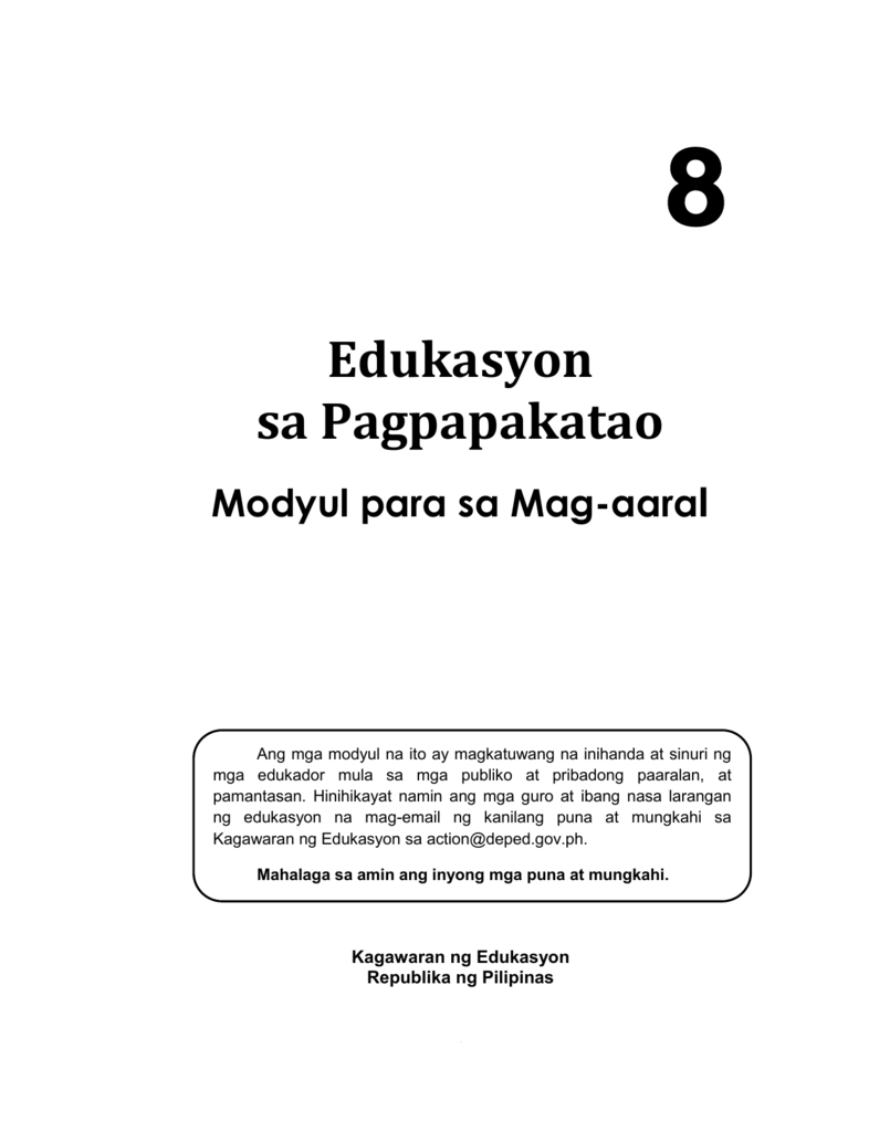 Edukasyon sa Pagpapakatao
