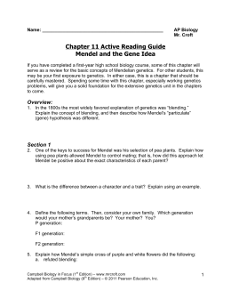 Chapter 11 Active Reading Guide