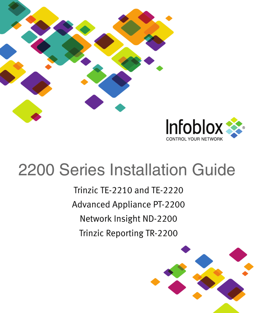Infoblox 2200 Series Installation Guide