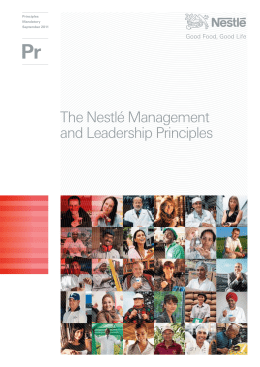 The Nestlé Management and Leadership Principles