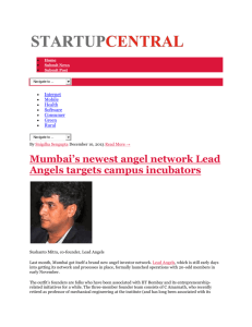 Mumbai's newest angel network Lead Angels targets campus
