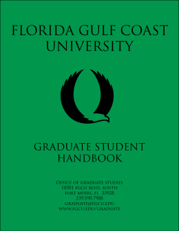 graduate assistantships - Florida Gulf Coast University