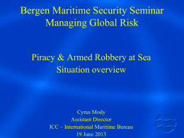 Piracy & armed robbery at sea
