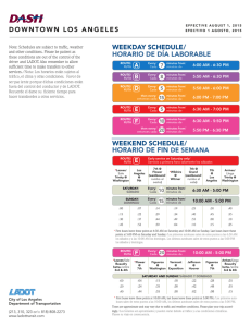 downtown los angeles weekday schedule