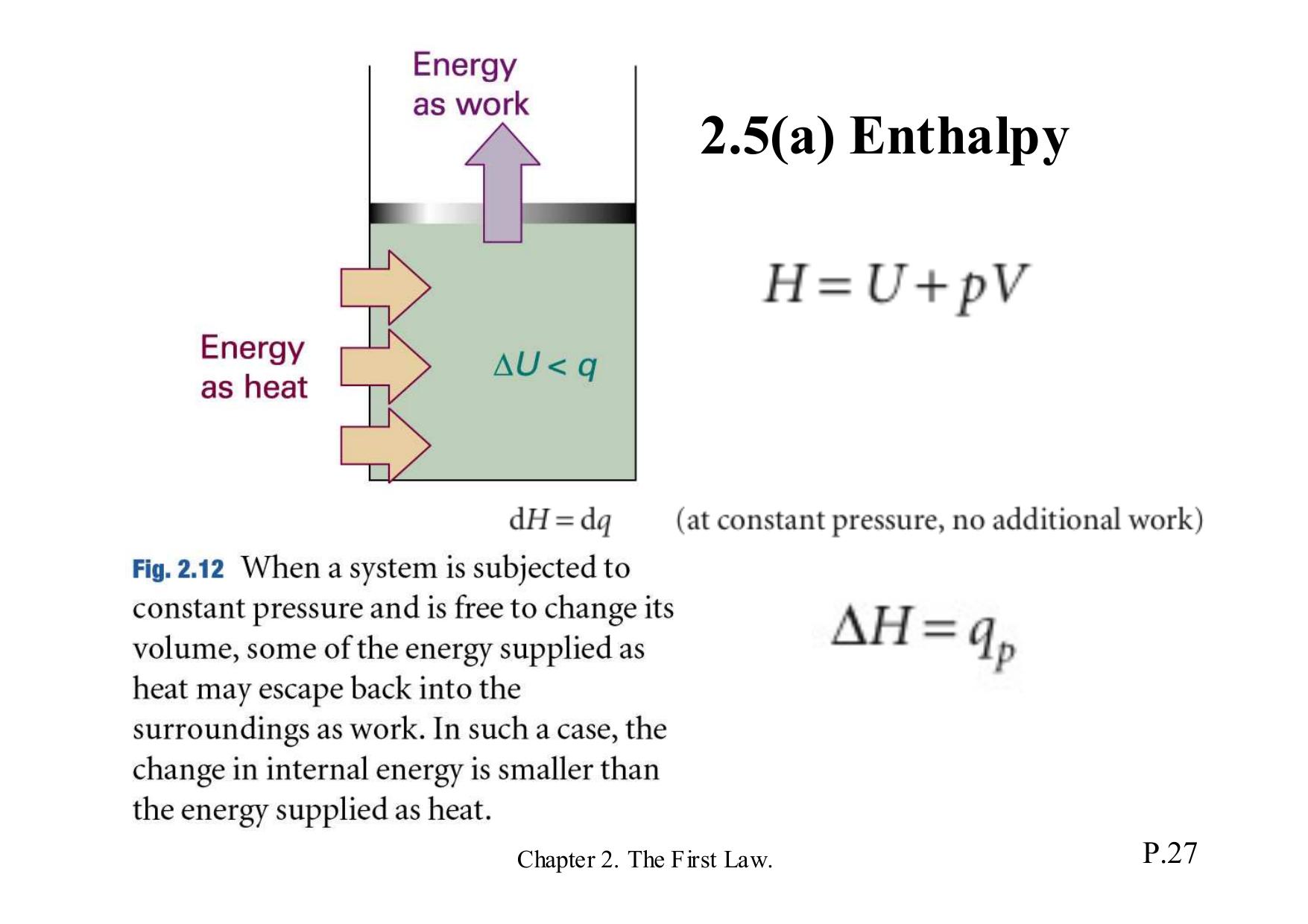 2.5(a) Enthalpy
