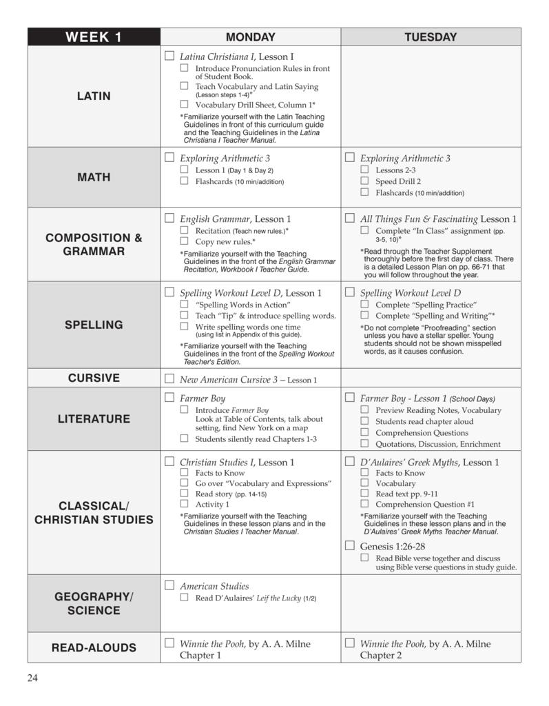 Sample Lesson Plans