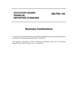SB-FRS 103 Business Combinations