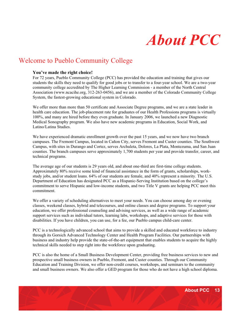 About Pcc Colorado Department Of Education