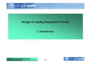 Design of Analog Integrated Circuits