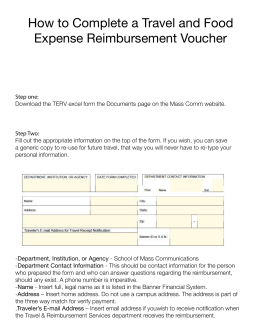 Complete a Travel and Food Expense Reimbursement Voucher
