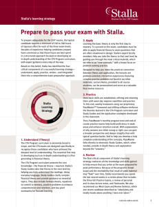 Prepare to pass your exam with Stalla.