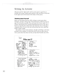 Writing An Acrostic