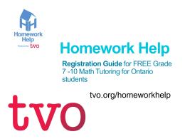 TVO Homework Help