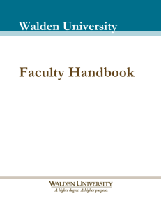 Table of Contents - Walden University