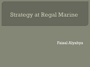 Strategy at Regal Marine