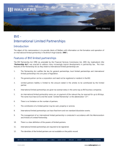 (BVI) International Limited Partnerships