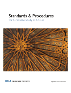 Standards & Procedures for Graduate Study