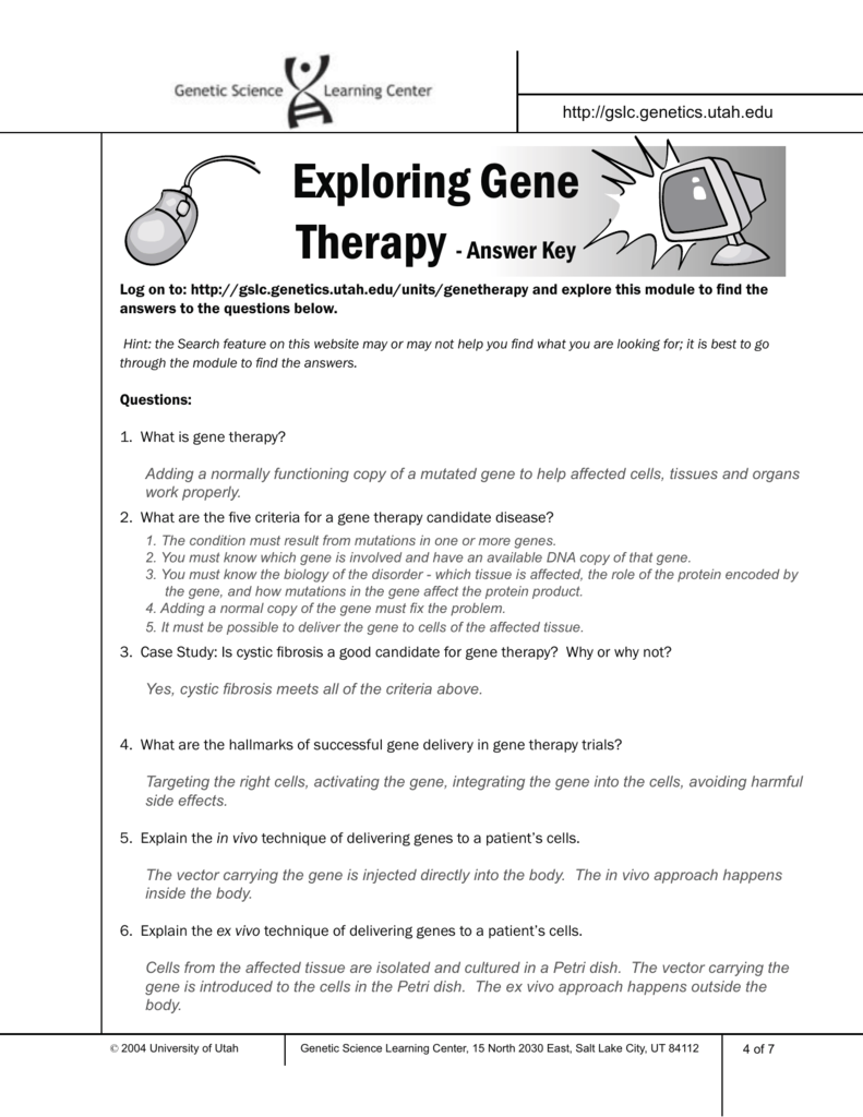 Lesson 12 Gene Therapy (2)