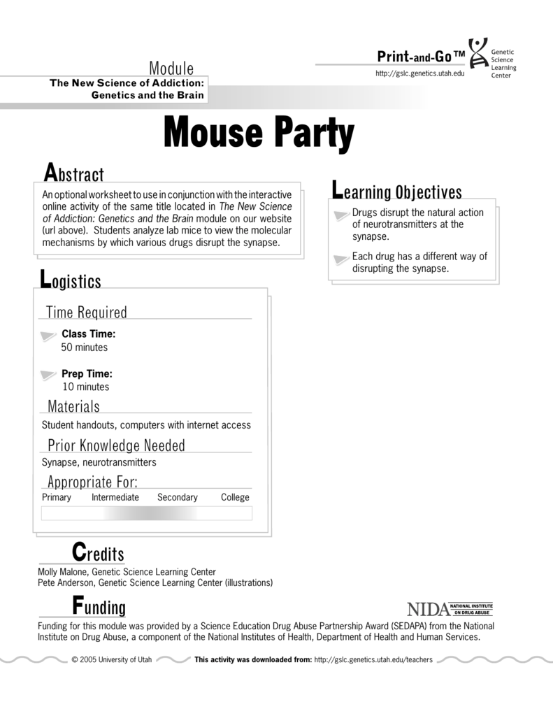 worksheet Mouse Party Worksheet completed worksheets