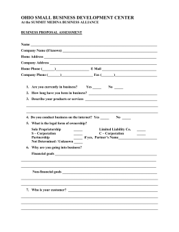 Business Proposal Assessment