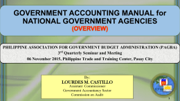 government accounting manual - Official Website of the Philippine