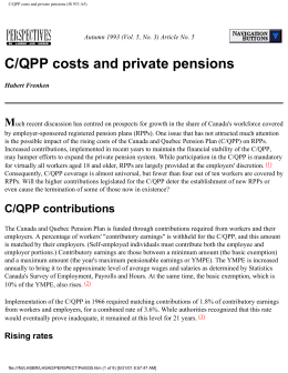 C/QPP costs and private pensions (IS 933 A5)