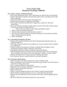 Psyc 120 Exam 2 Study Guide